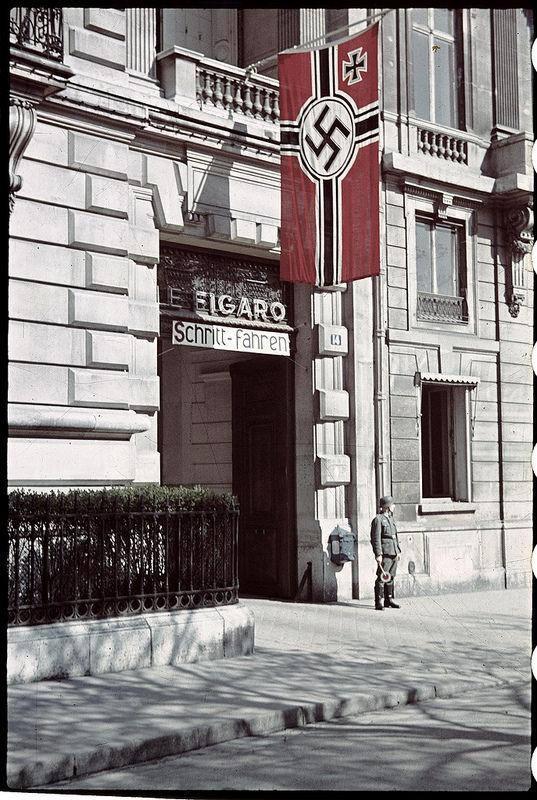 Свастика на здании редакции «Фигаро»