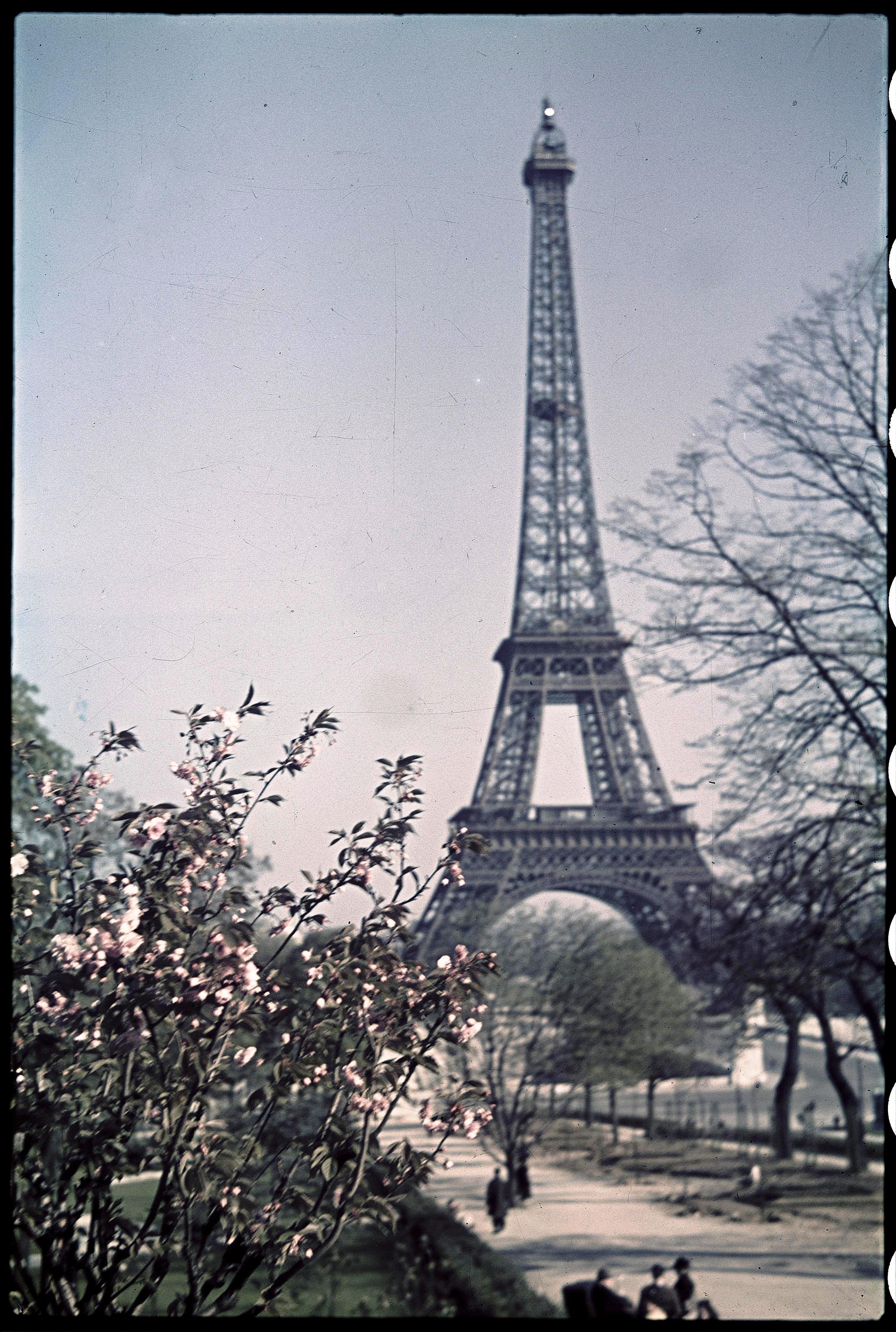 Окрестности Эйфелевой башни весной