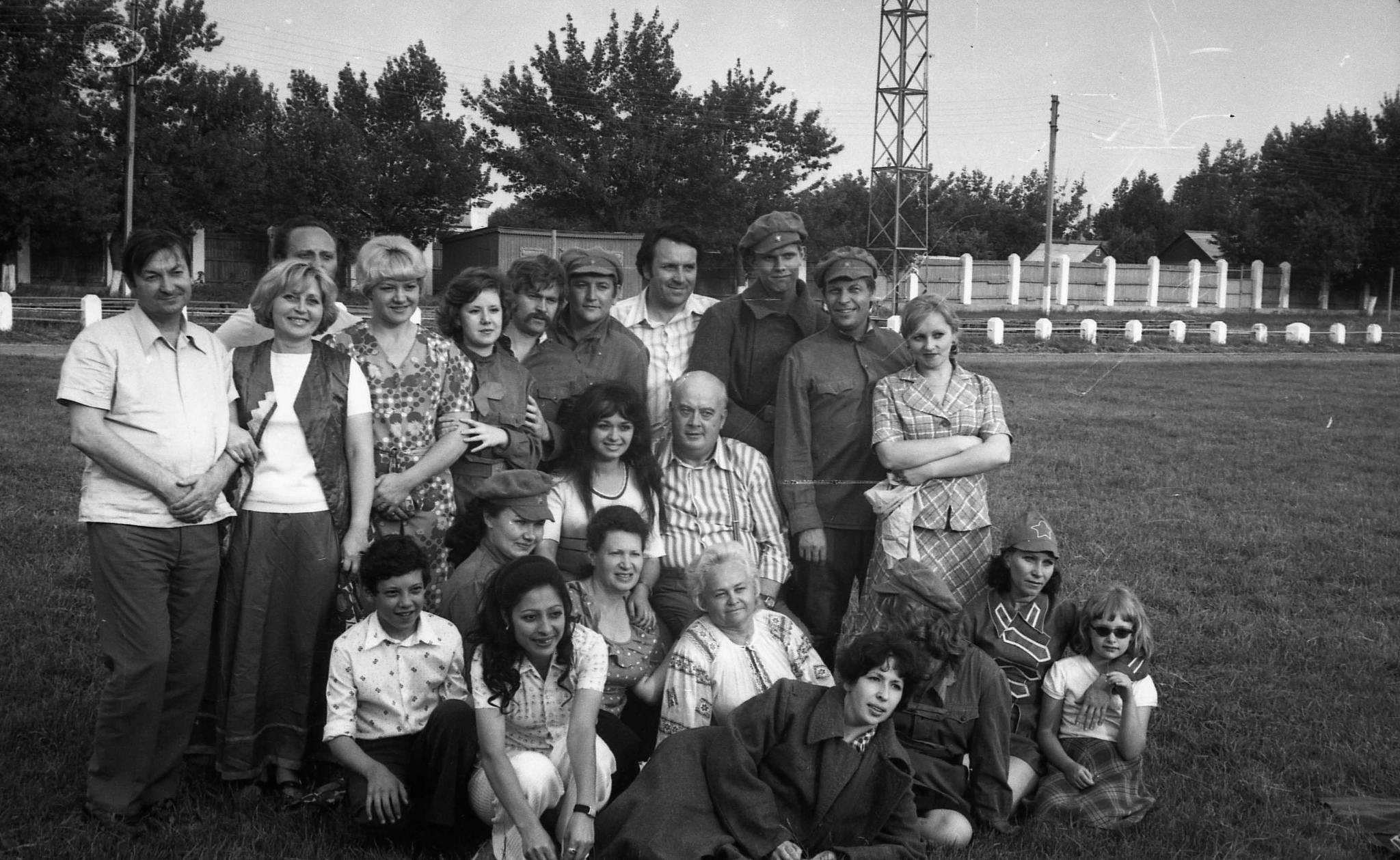 Георгий Вицин и Евгений Моргунов. Каневская. Август 1977 года