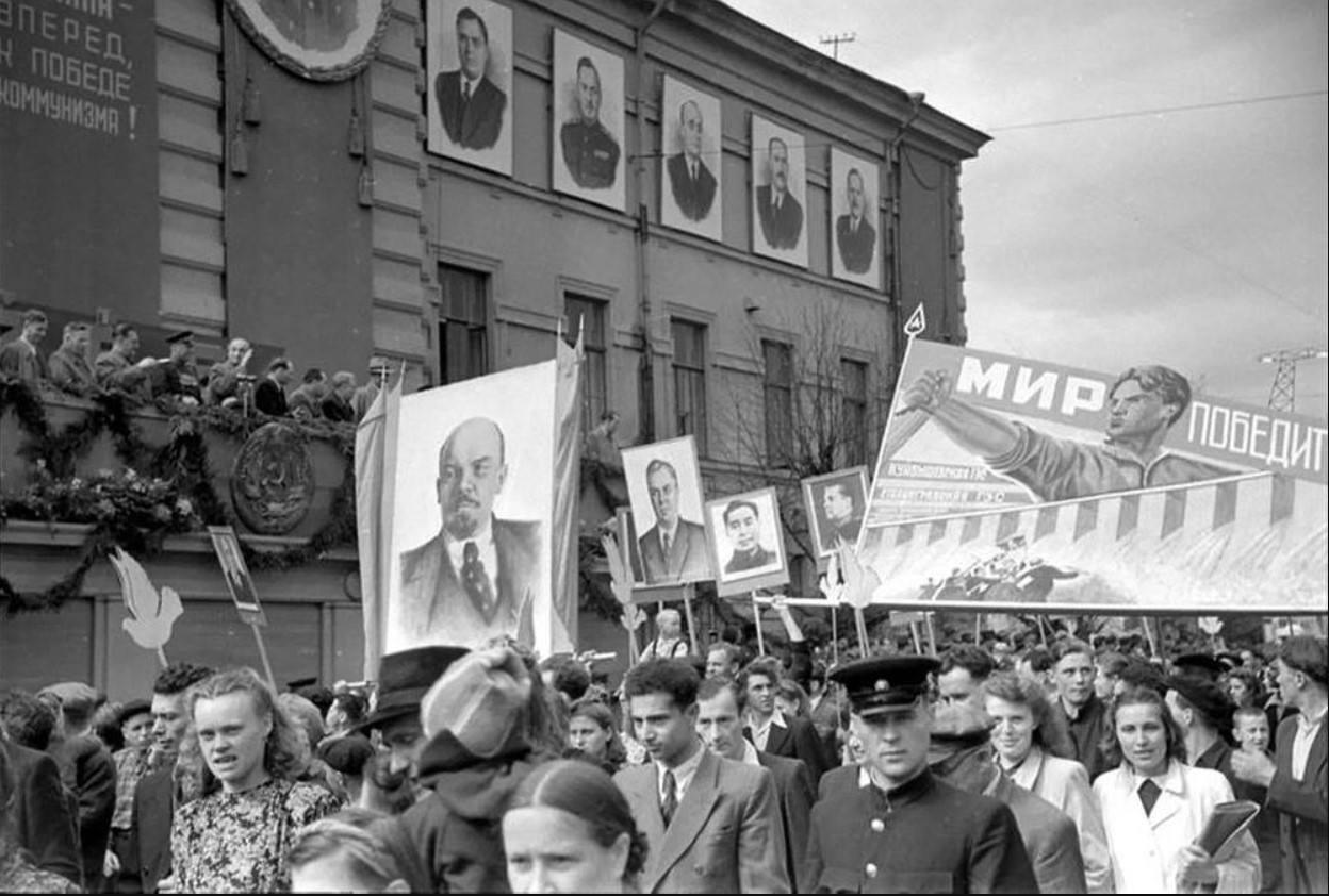 1948. Первомайская демонстрация в Вильнюсе