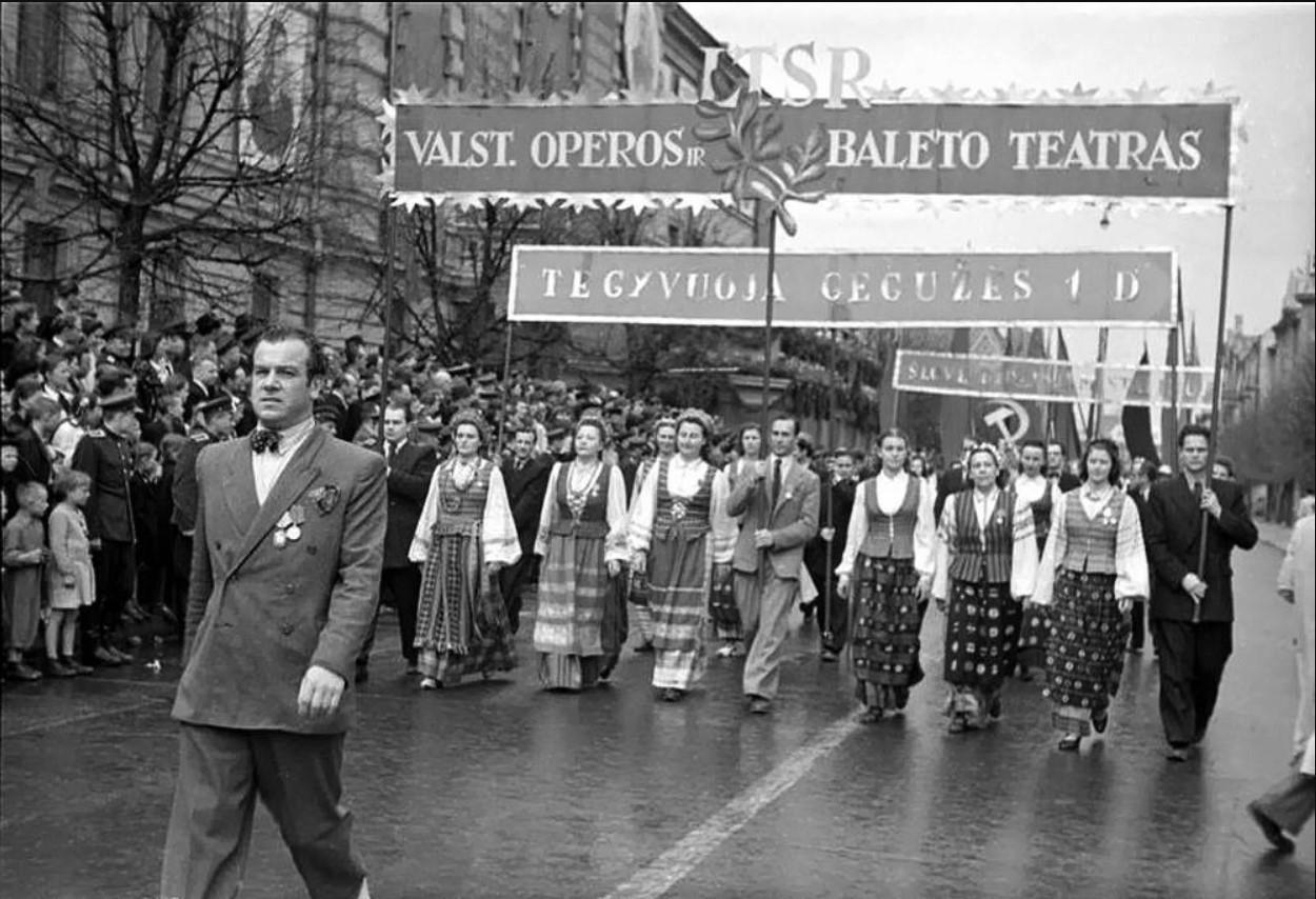 1948. Первомайская демонстрация в Вильнюсе1