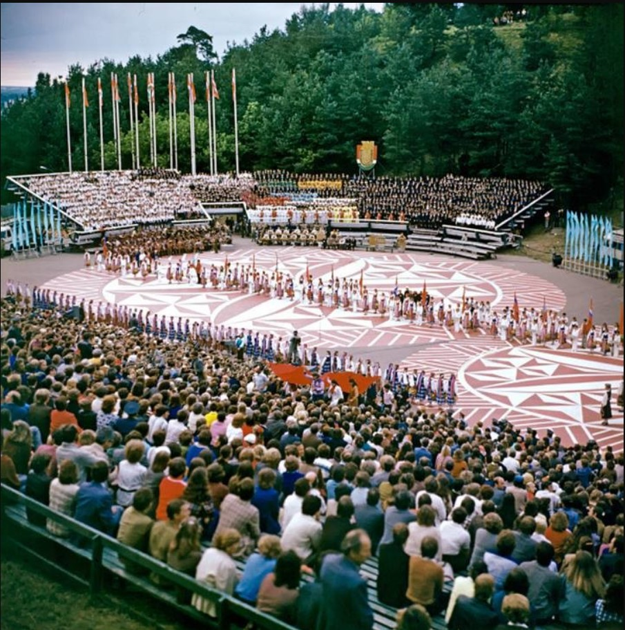 1983. Открытие детского спортивного праздника (детская спартакиада) на площадке Горного парка