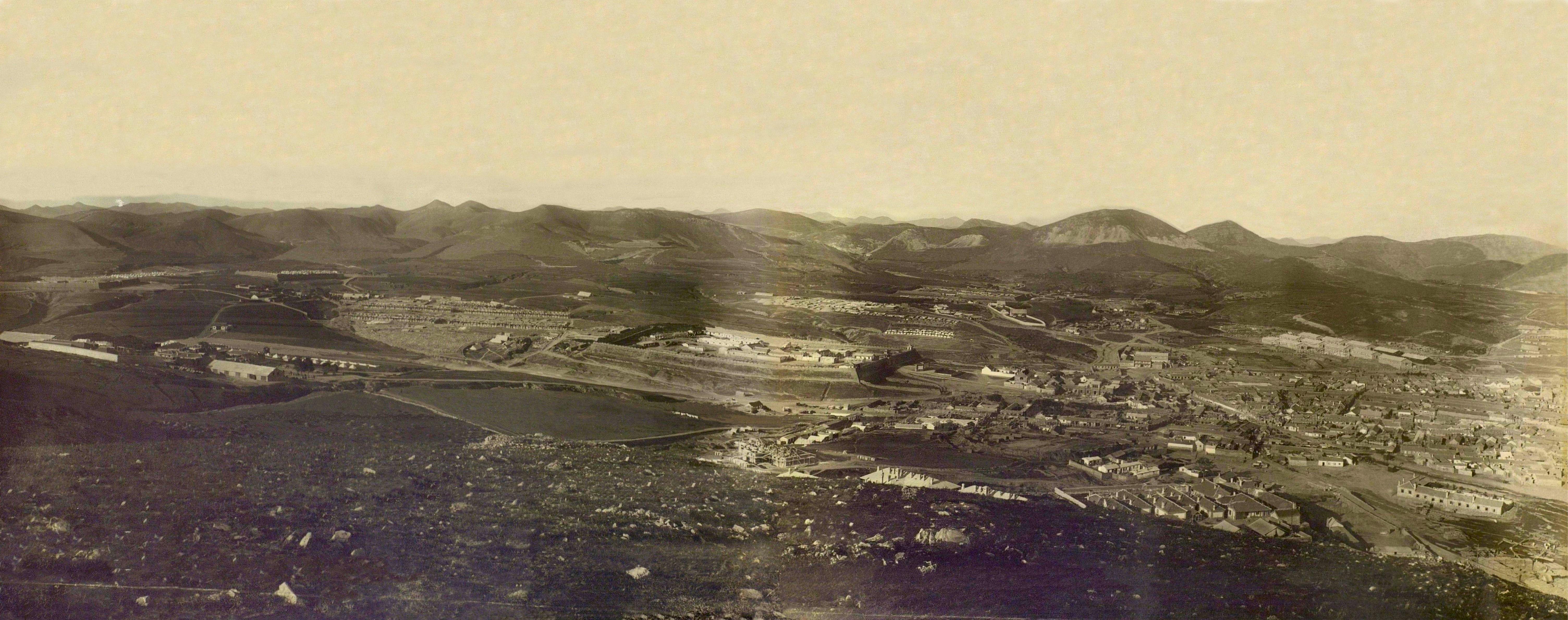 Панорама восточной части П-Артура