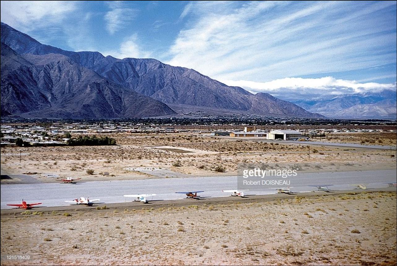 1960. Палм-Спрингс. Лётное поле