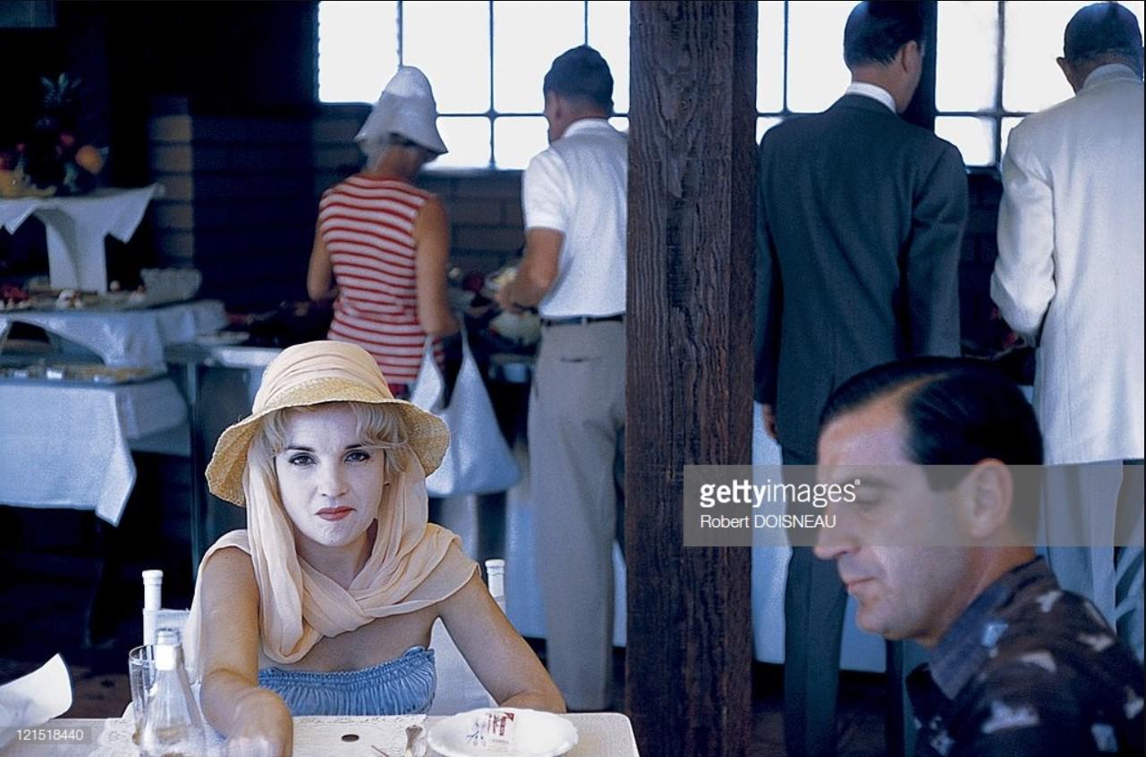 1960. Палм-Спрингс. Пара в ресторане