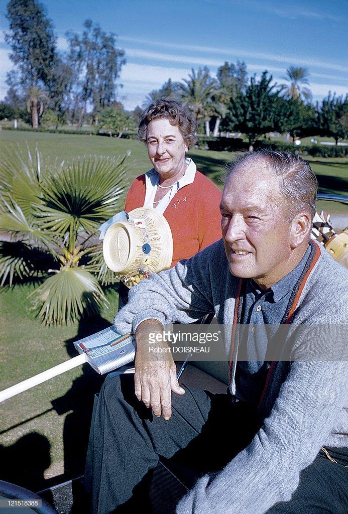 1960. Палм-Спрингс. Пара игроков в гольф