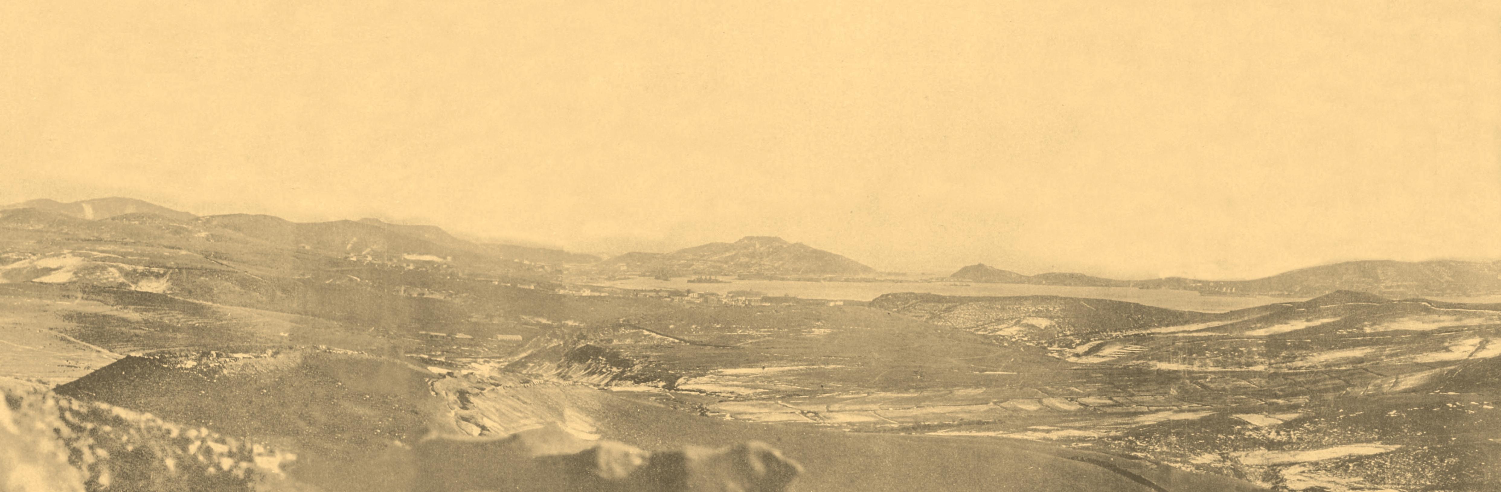 Вид на П-Артур с вершины г.Высокой.зима 1905