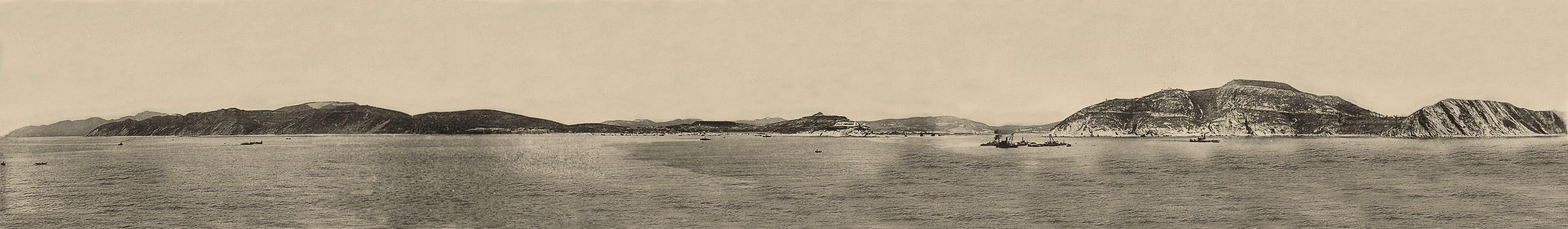 Панорама П-Артура с моря