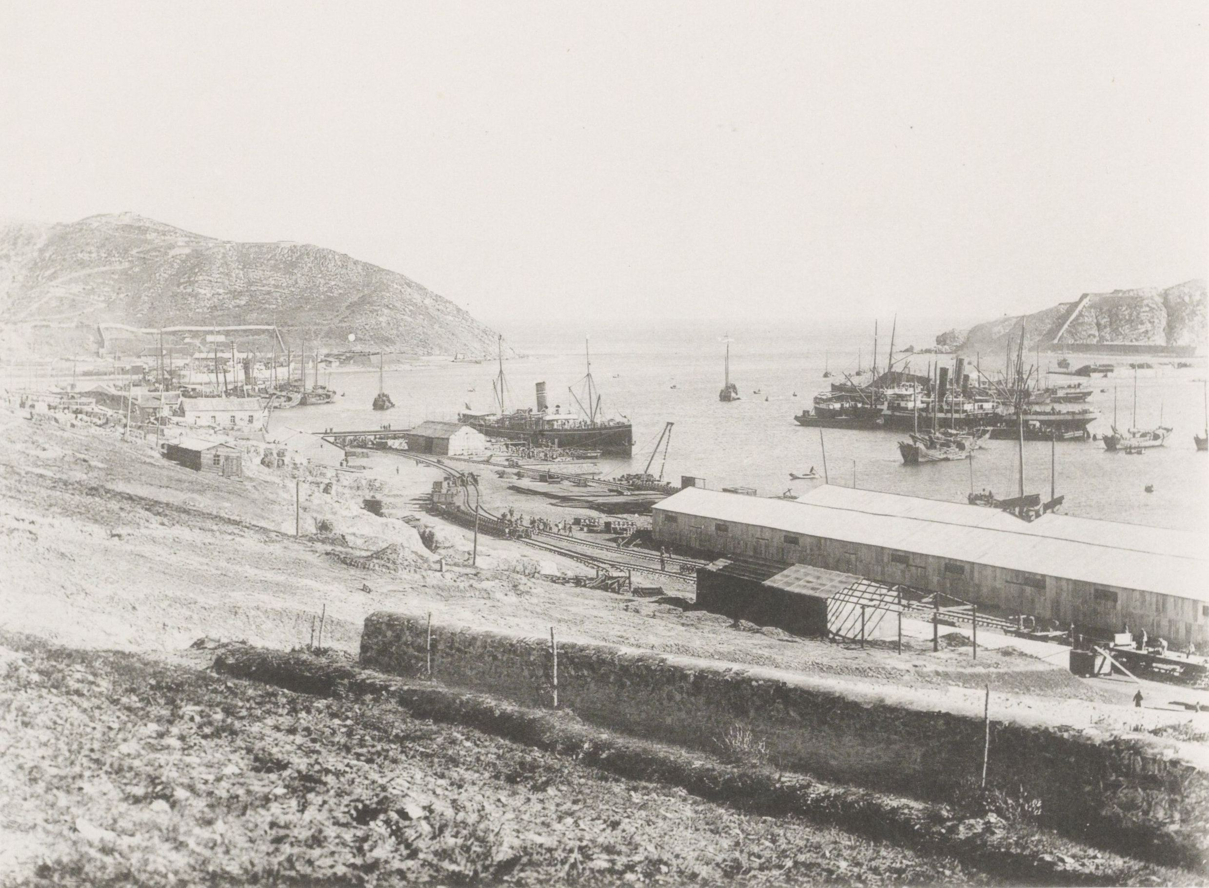 Вид Восточно-Китайской железной дороги в Порт-Артуре
