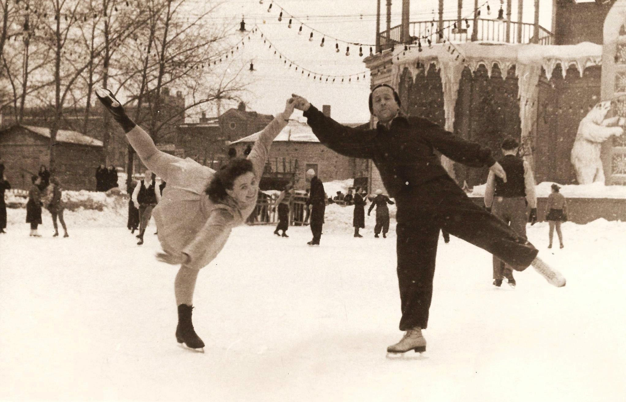 1948. Зеркальный каток в ЦПКиО.