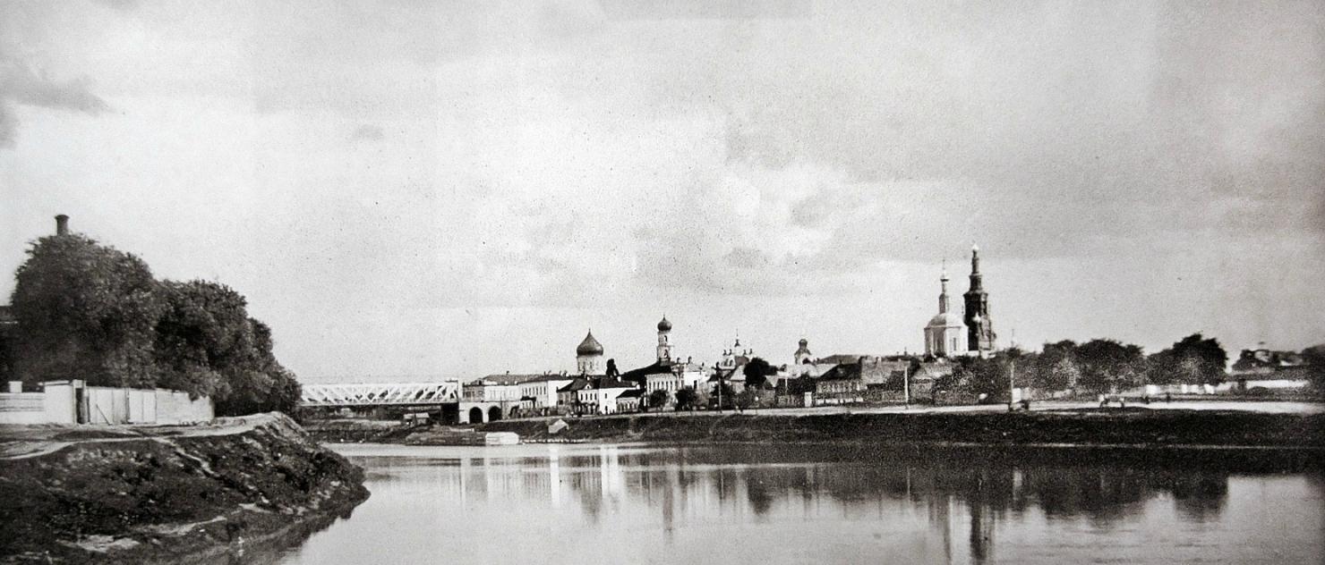 Вид на город с плотины