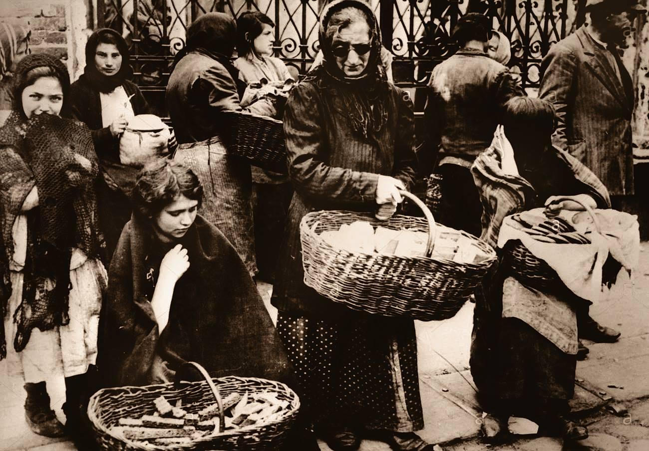 1915. Еврейские уличные торговки