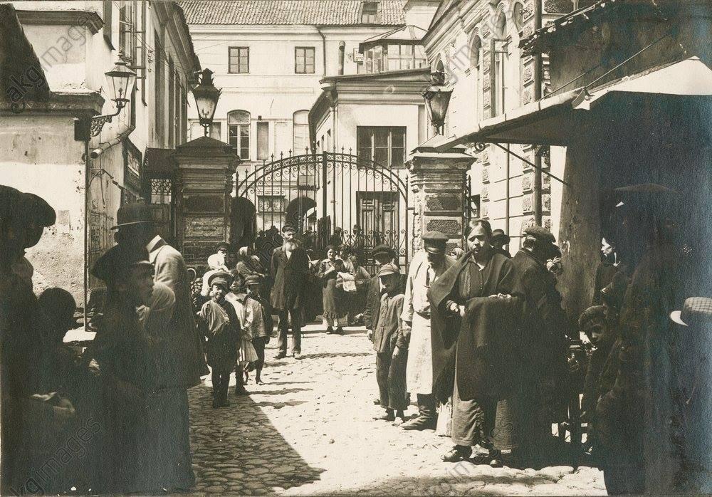 1916. Еврейский квартал возле Большой синагоги