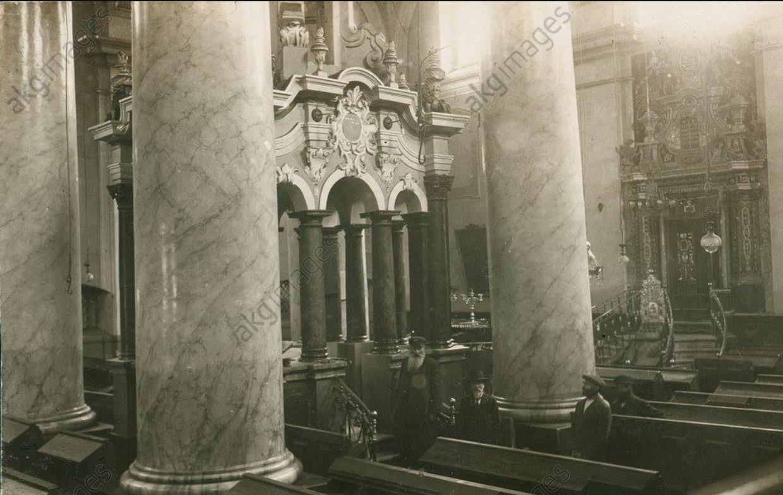 1916. Интерьер Большой синагоги
