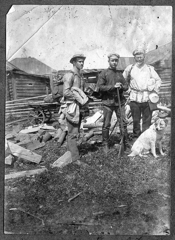 В. Ю. Визе со спутниками перед экспедицией по уральской тайге