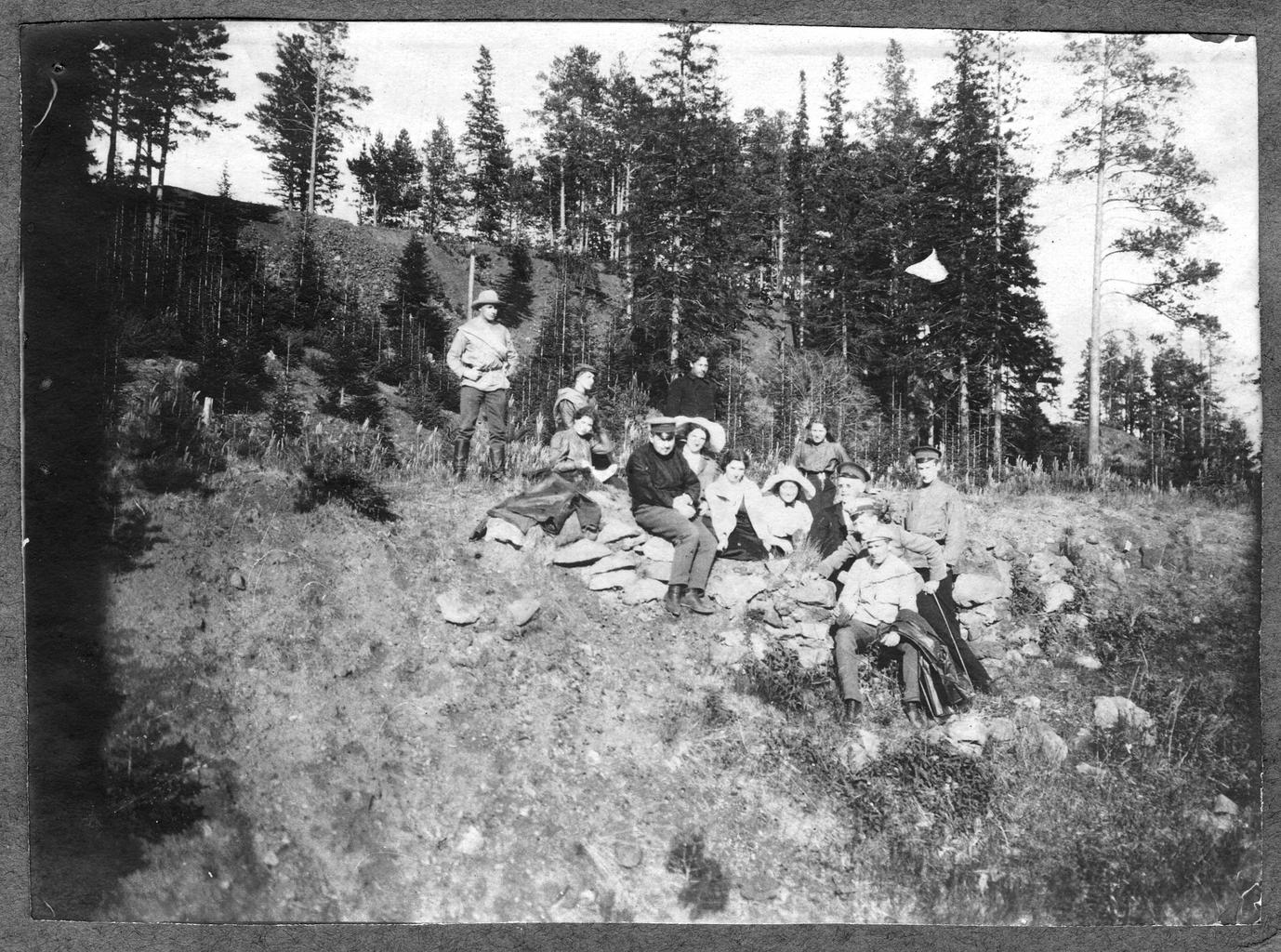 Участники экспедиции Павлова М. А. на горе Благодать