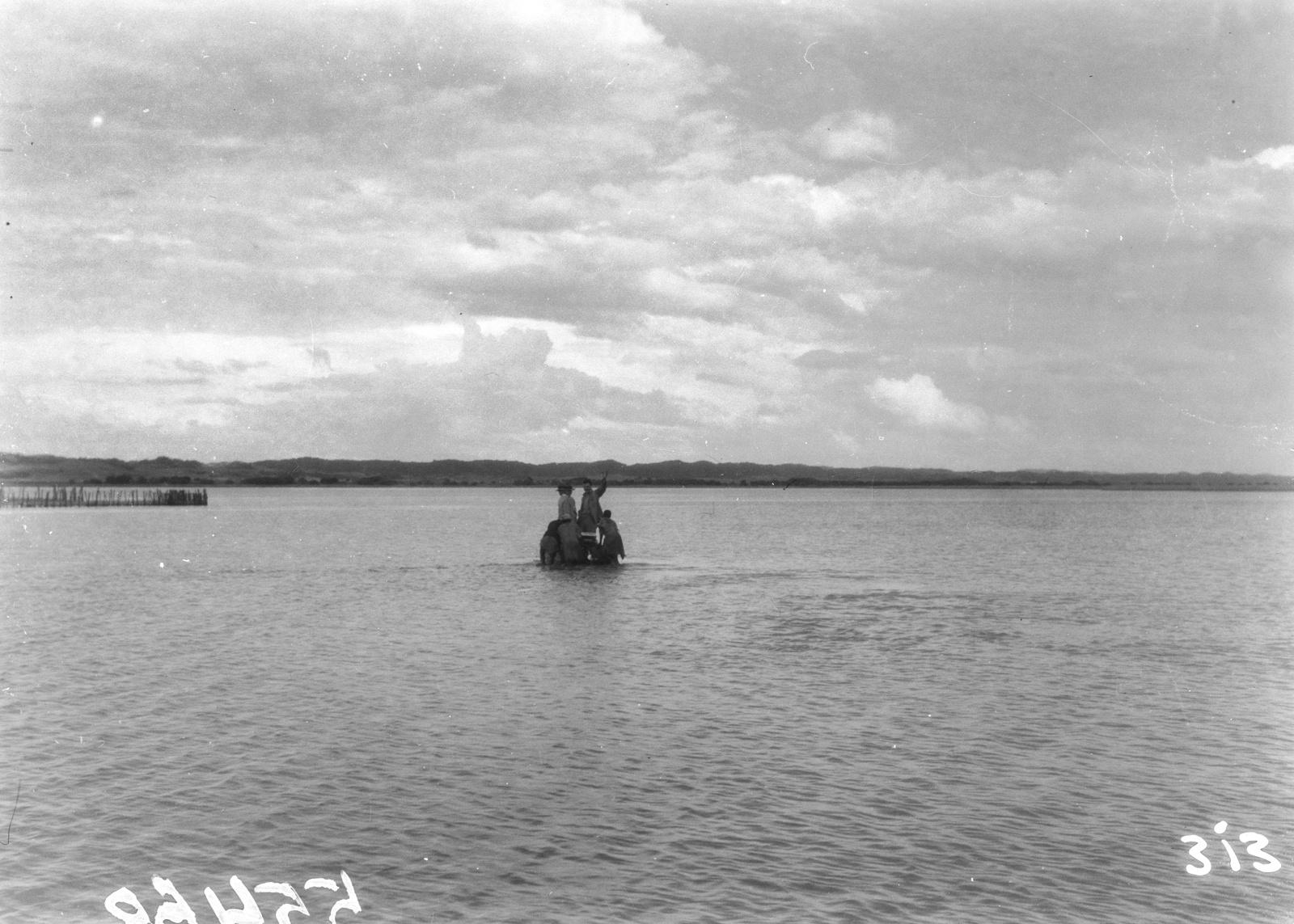 Южно-Африканский Союз. Квазулу-Наталь. Участники экспедиции в реке