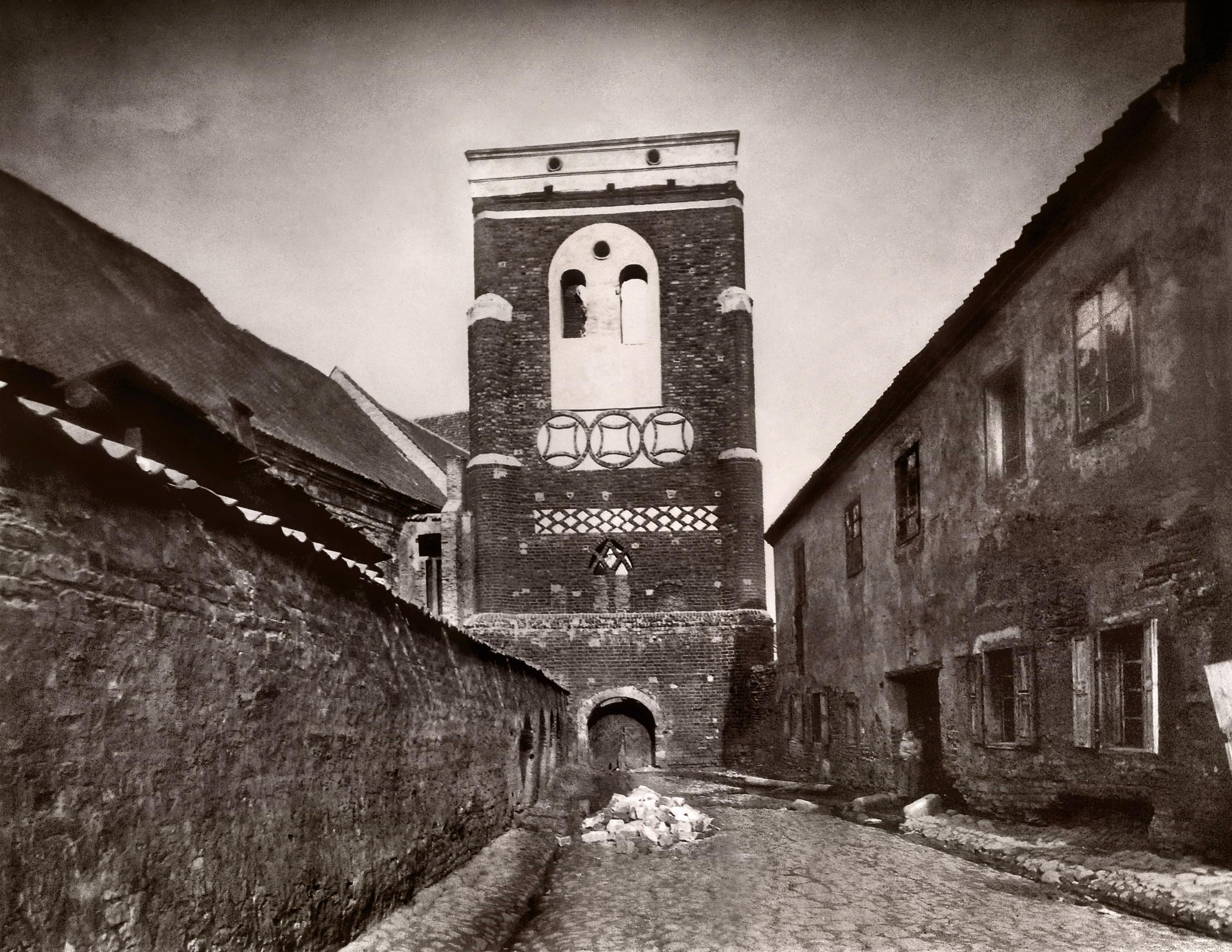 Улица Францисканцев. Старая колокольня. 1869