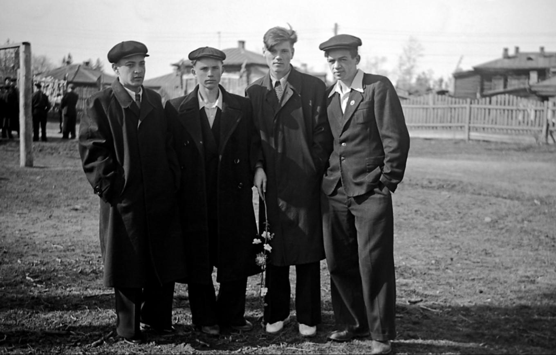 1950-е. На школьном дворе