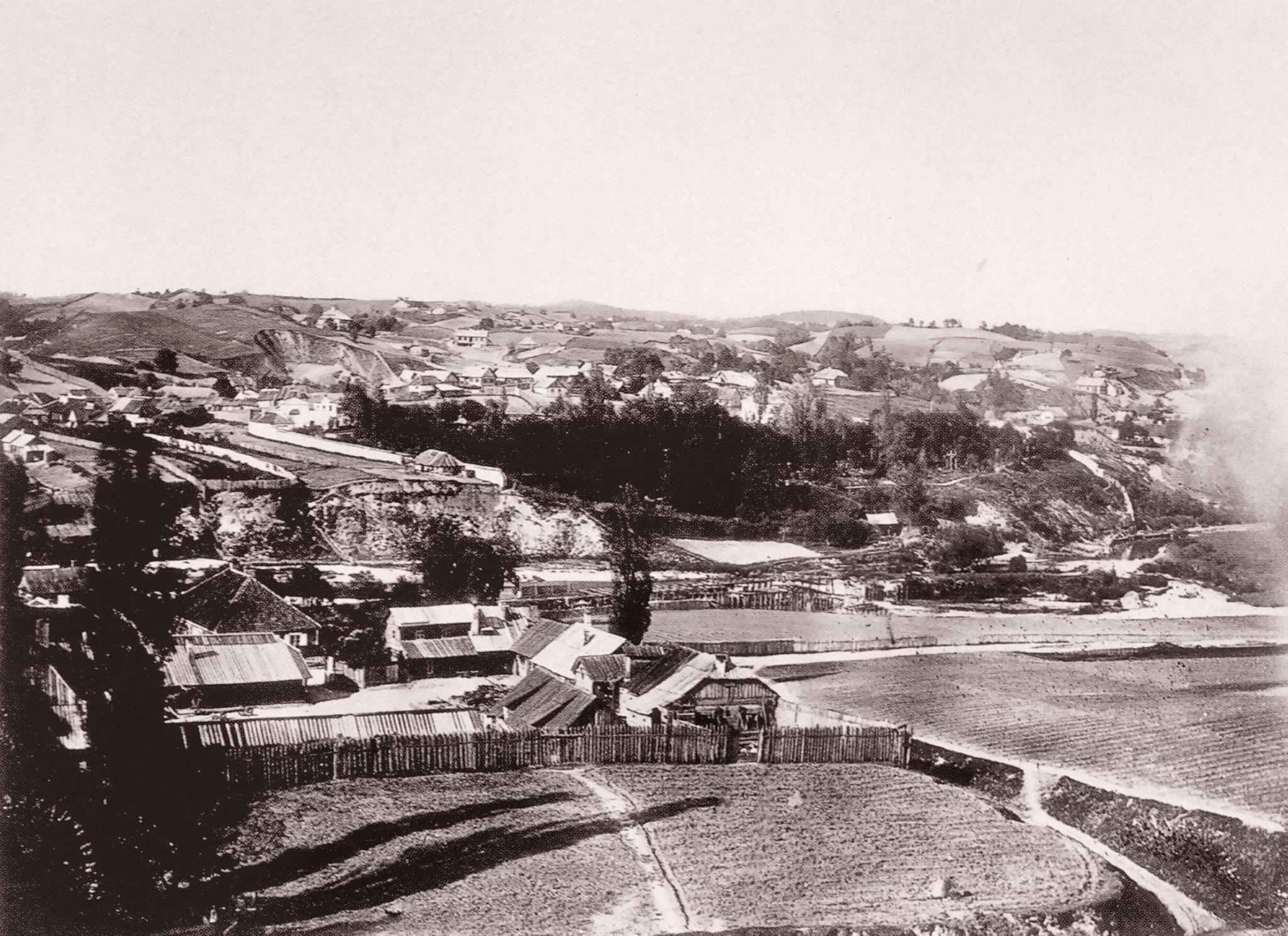 Вид предместья Поплавы с юговосточной стороны города. 1866