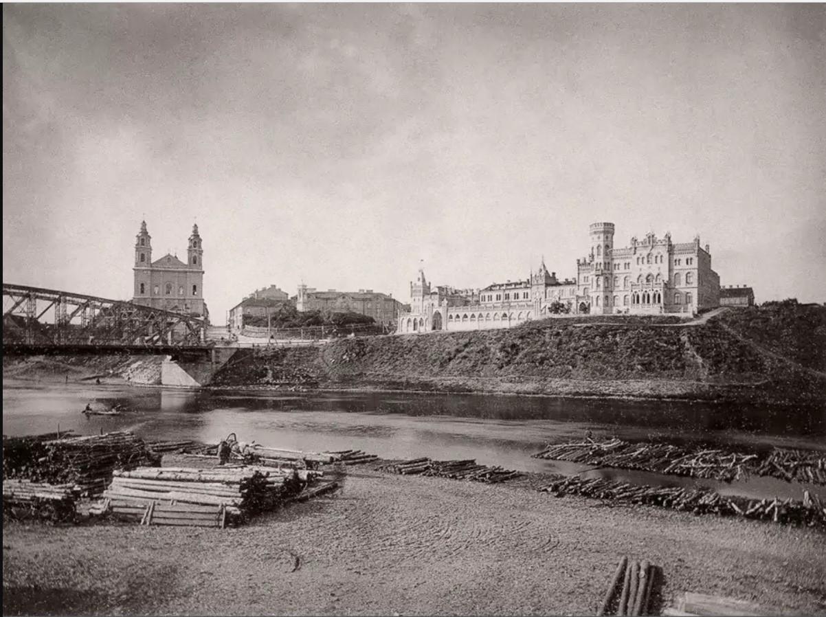 Зелёный Мост, костёл Святого Архангела Рафаила и дворец Гилярий Радушкевича. 1902