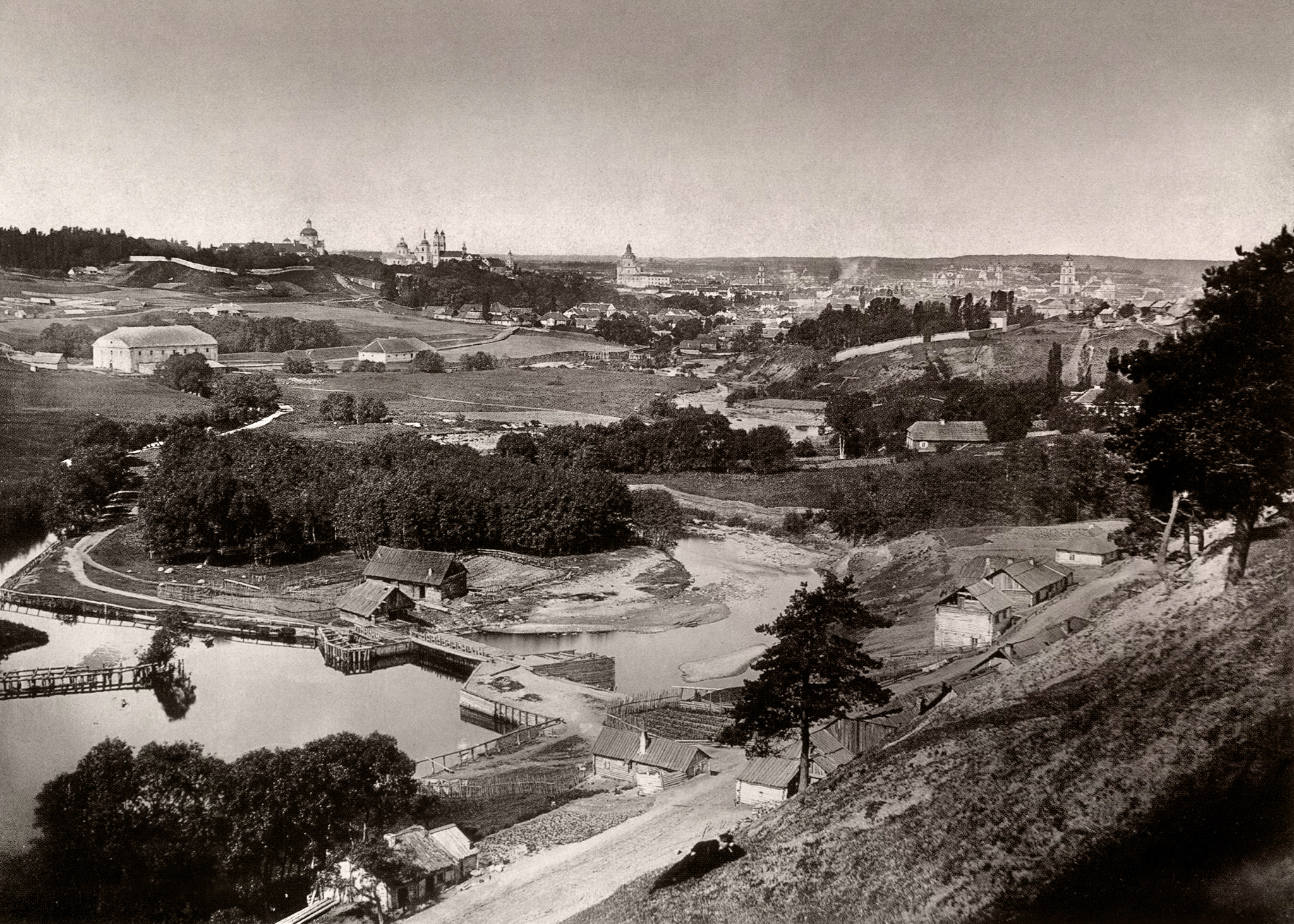 Панорама г. Вильно со стороны Бельмонта. 1866