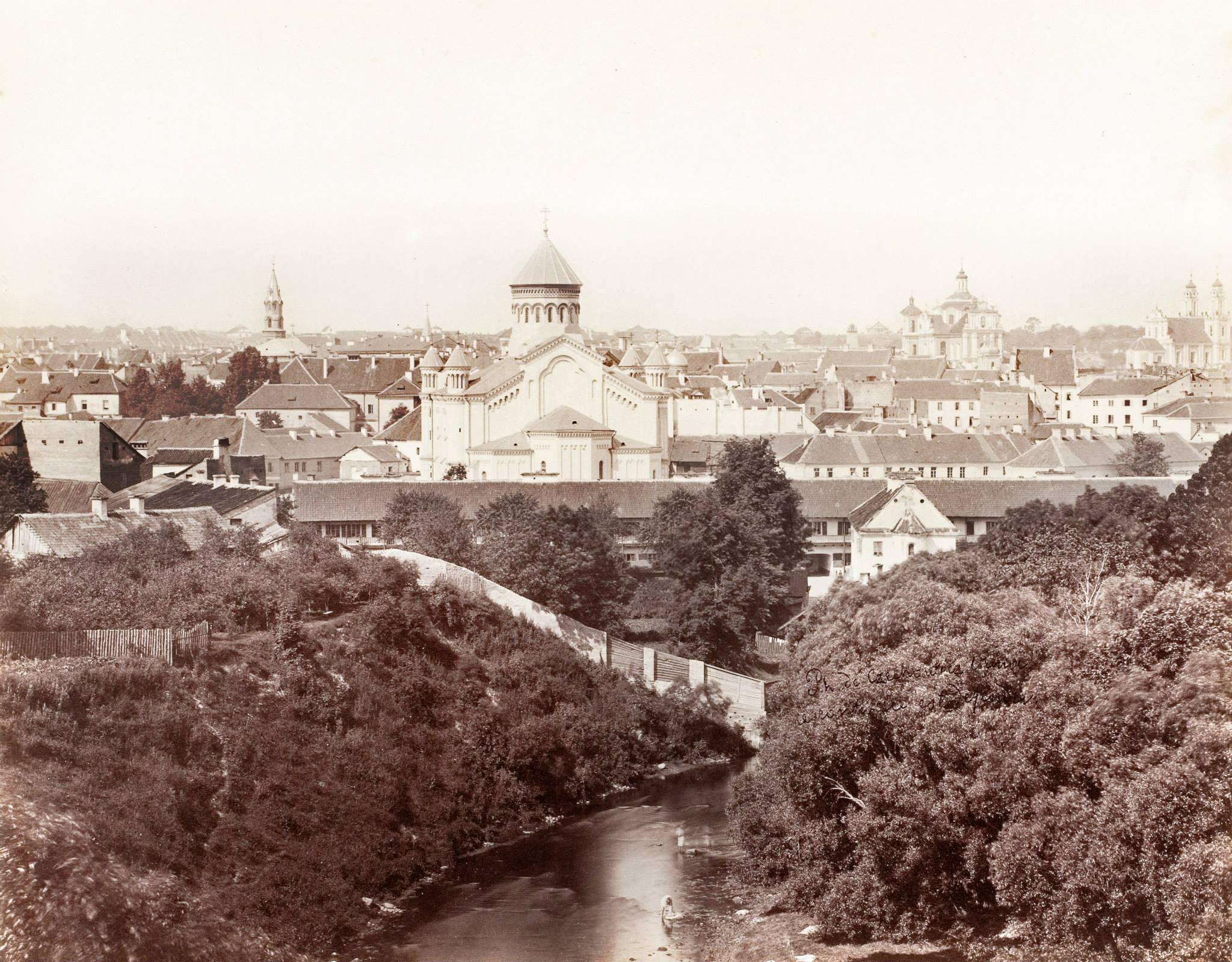 Панорама с храмом Пресвятой Богородицы. 1873