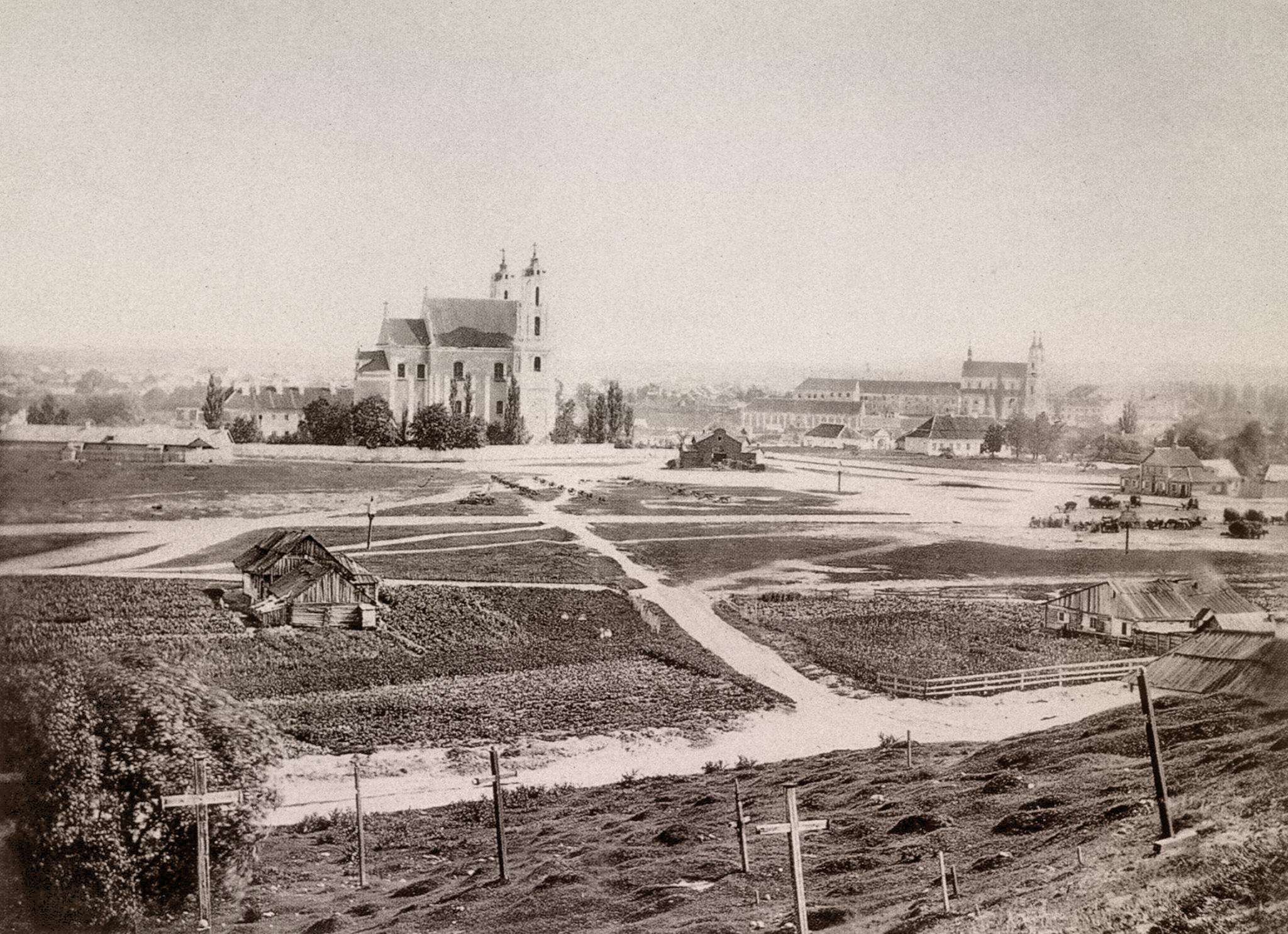 Площадь Лукишки с Бауфаловой горы. 1865