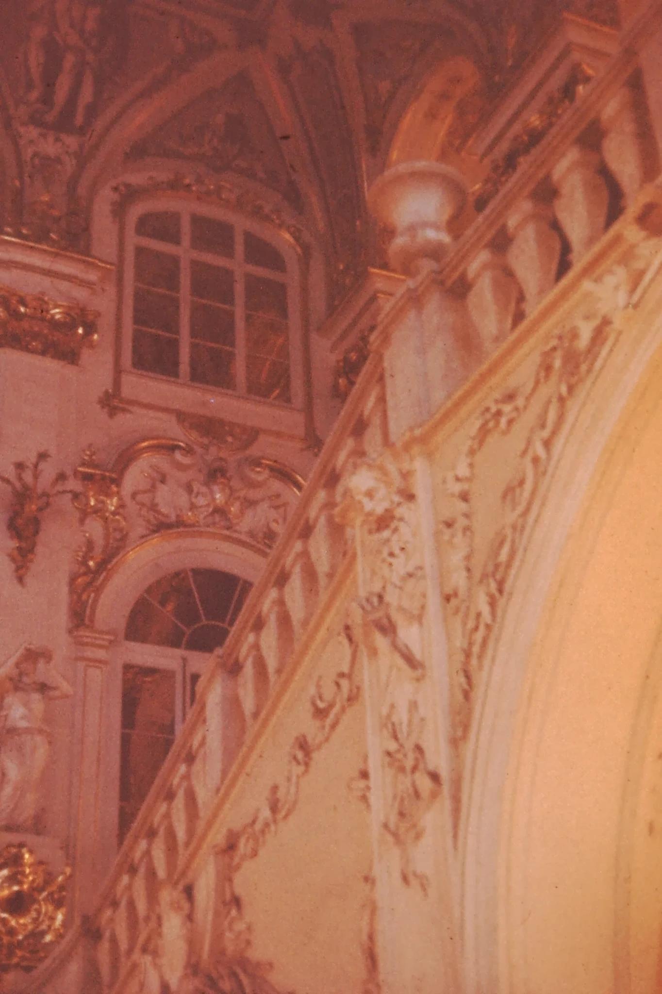 28. Лестница в Зимнем дворце, спроектированная Растрелли