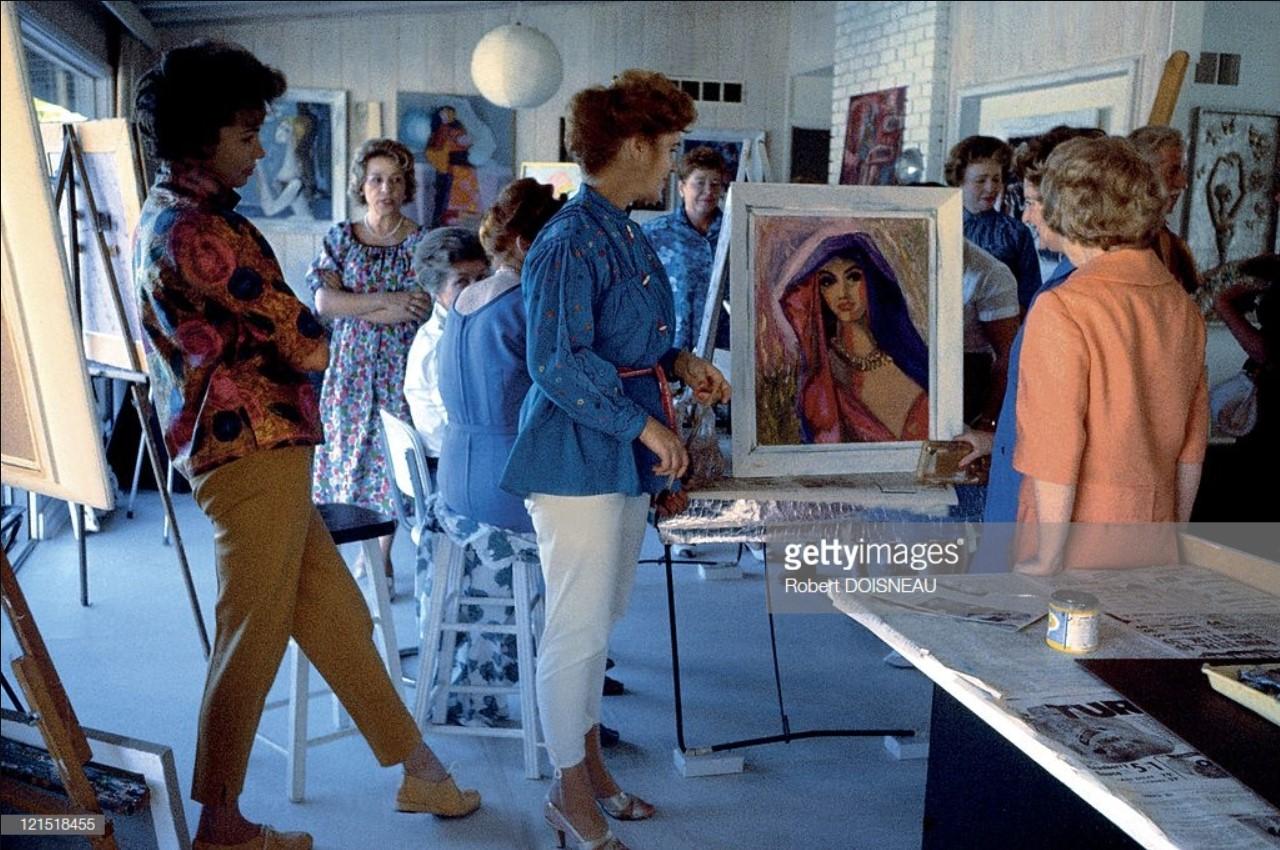 1960. Палм-Спрингс. Женский кружок по рисованию