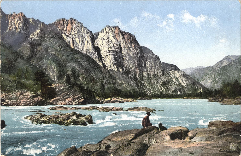 Порог на реке Катунь выше села Чемал