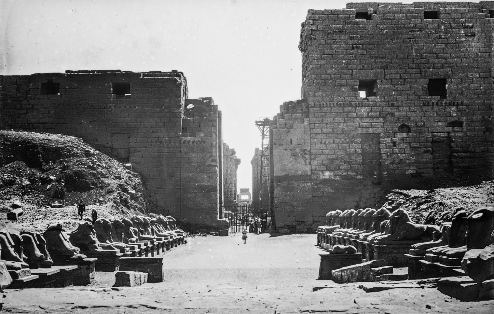 Карнак. Храм Амона. Аллея сфинксов.