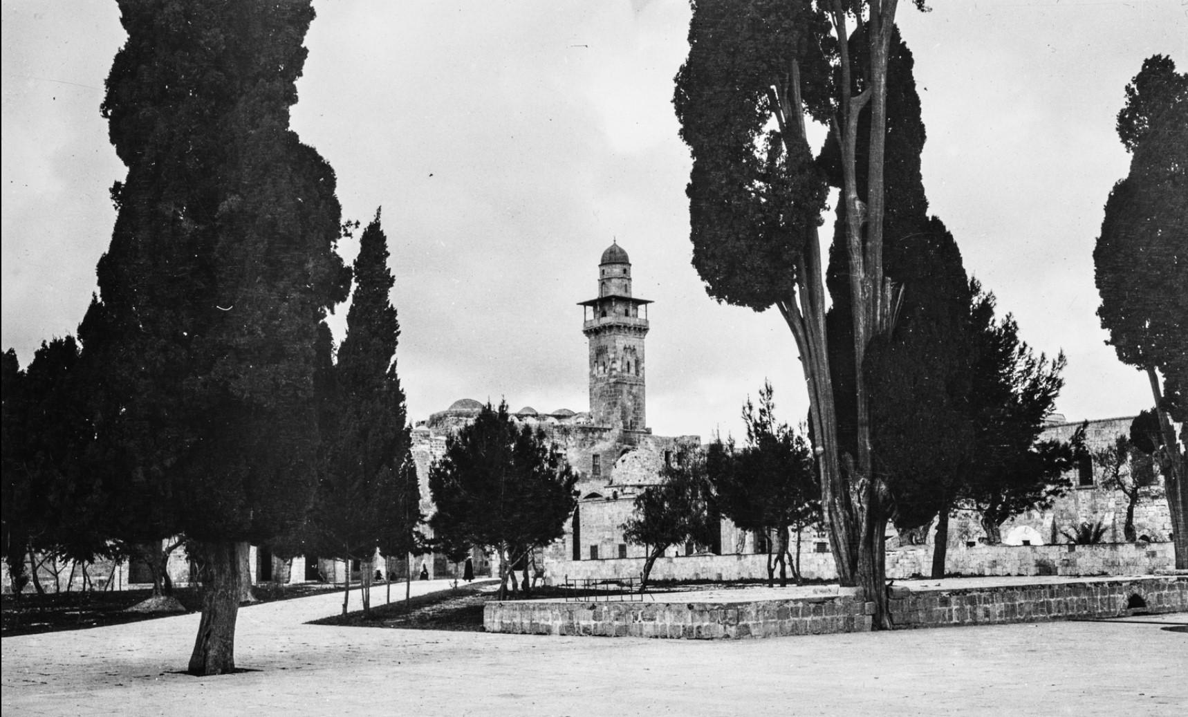 Иерусалим. Минарет Баб Аль Силсила на Храмовой горе