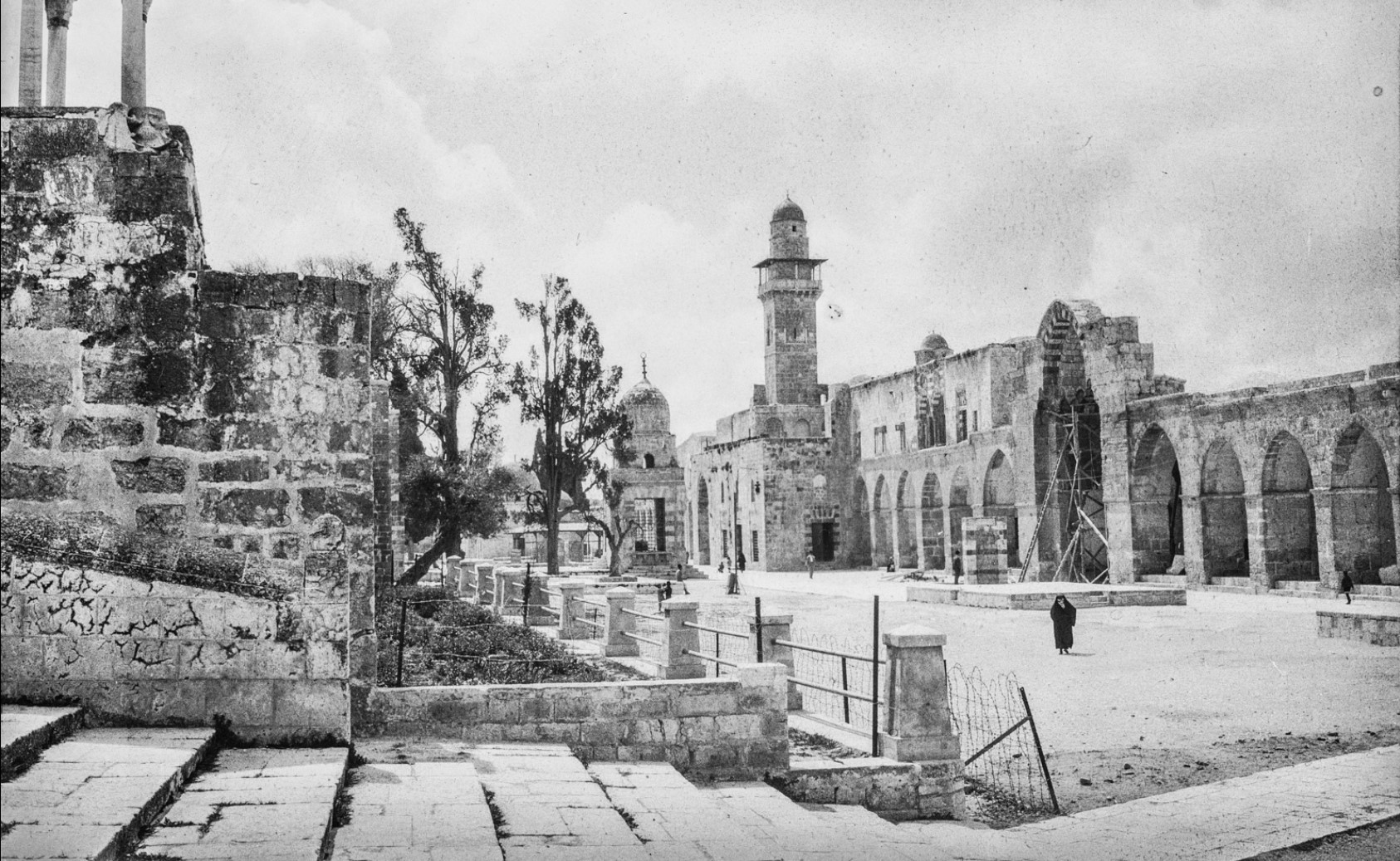 Иерусалим. Минарет Баб Аль Силсила в мечети аль-Акса