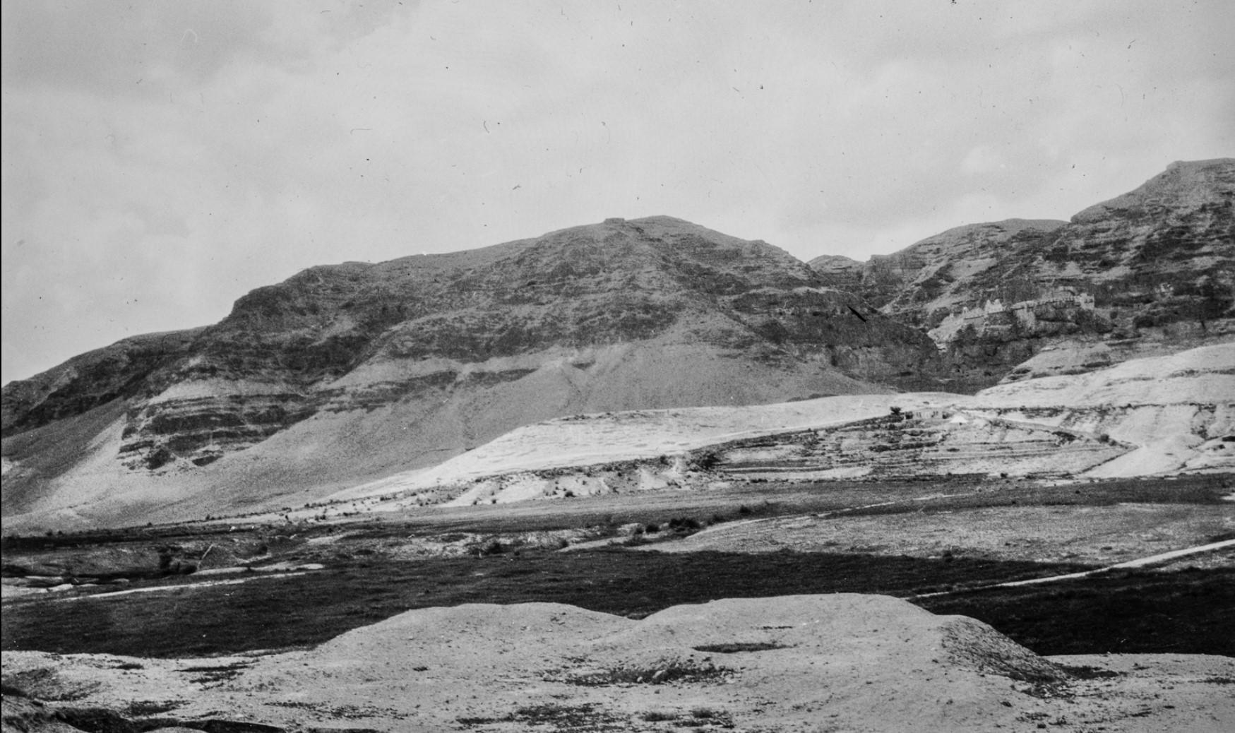 Вид Иудейской пустыни между Иерусалимом и Мертвым морем на Пасху 1929.