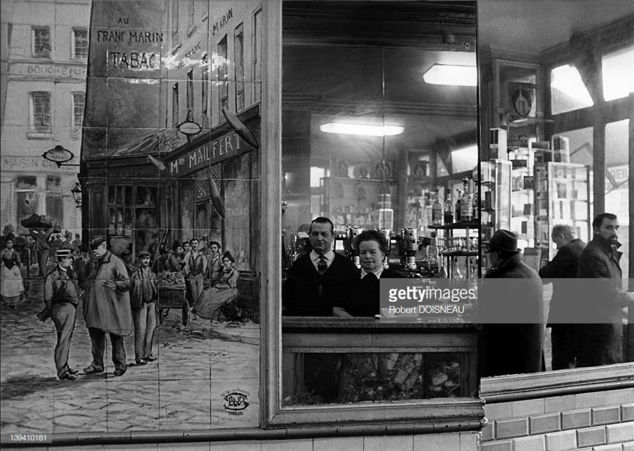 1971. Керамическое изображение на стене кафе La La Maree в районе Ле Аль