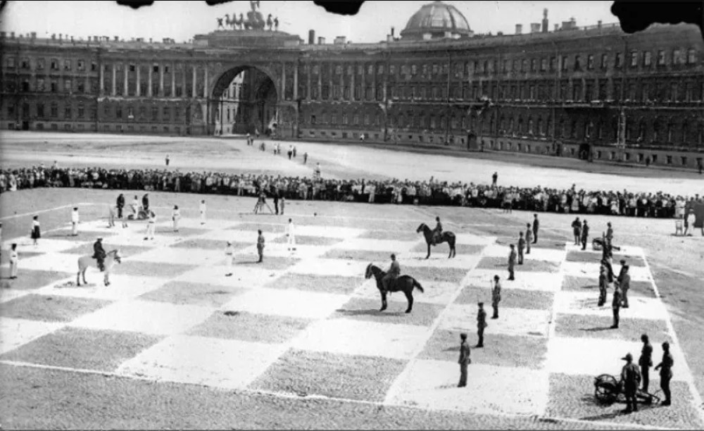 Сеанс игры в живые шахматы, состоявшийся 20 июля 1924 года