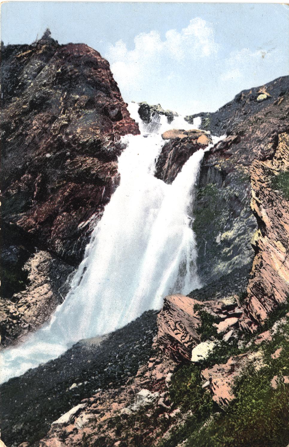 Водопад Россыпной у истока Катуни. Район горы Белухи