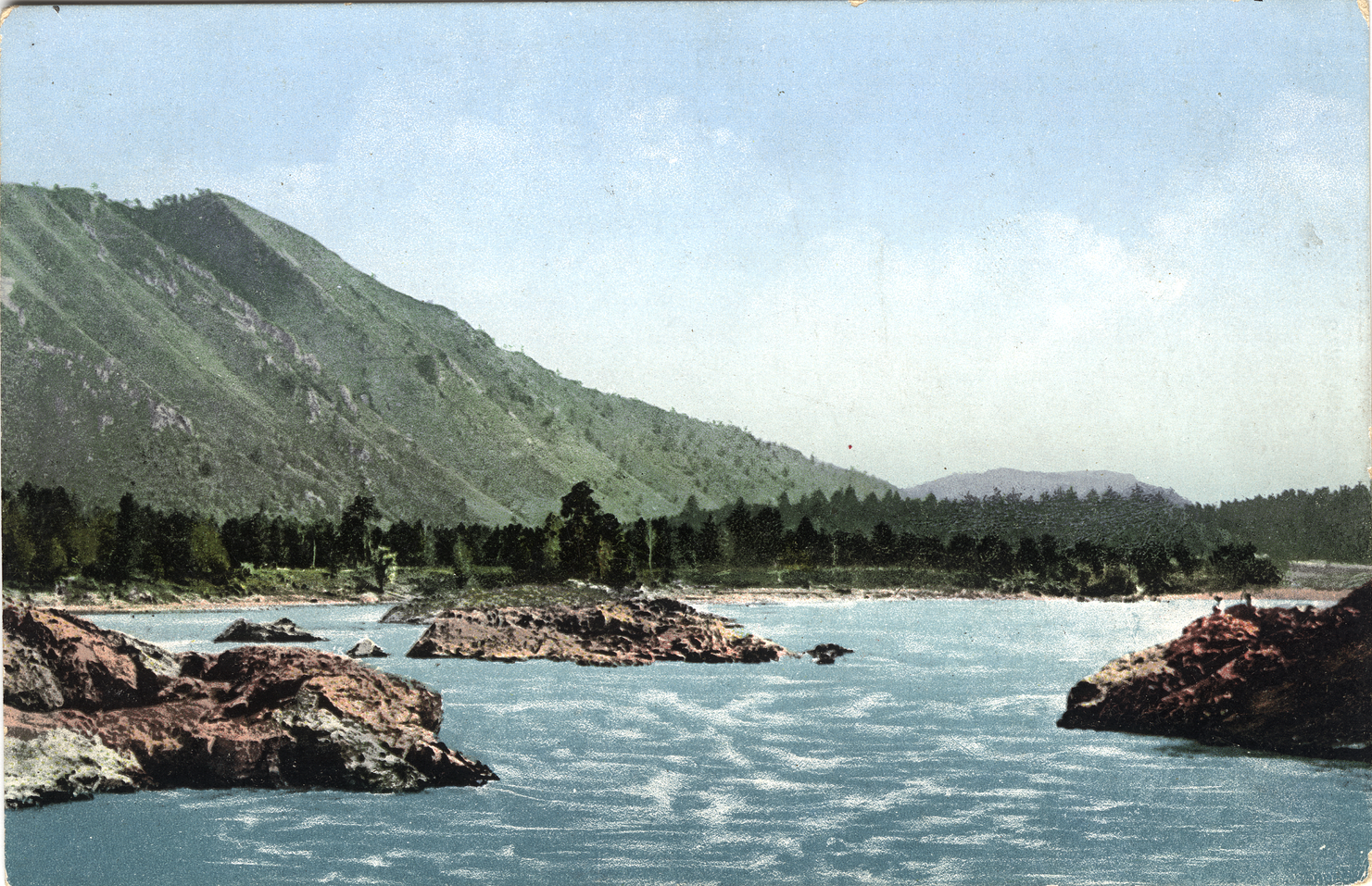 Манжерокский порог на реке Катунь