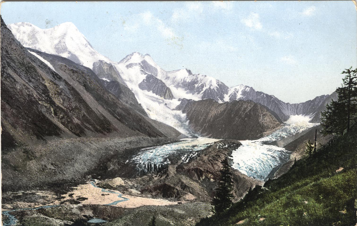 Гора Белуха и ледник Катунский