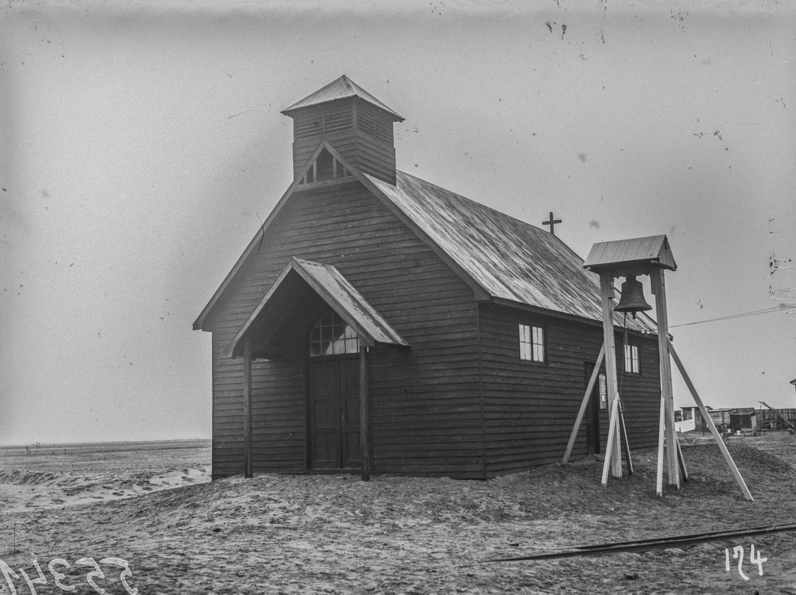 Южно-Африканский Союз. Уолфиш-Бей. Вид деревянной церкви