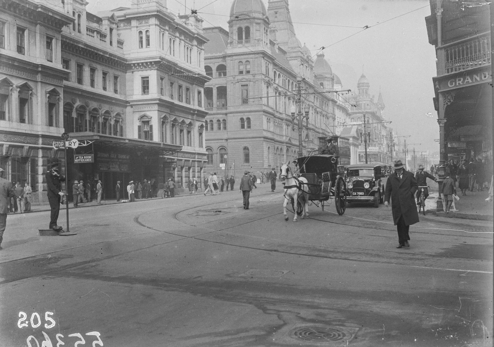 Южно-Африканский Союз. Кейптаун. Городская улица