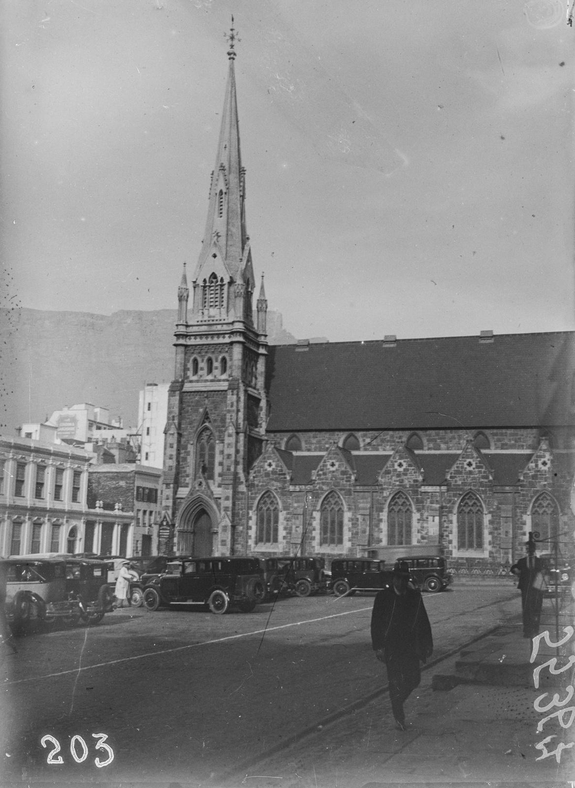 Южно-Африканский Союз. Кейптаун. Рыночная площадь и методистская церковь.