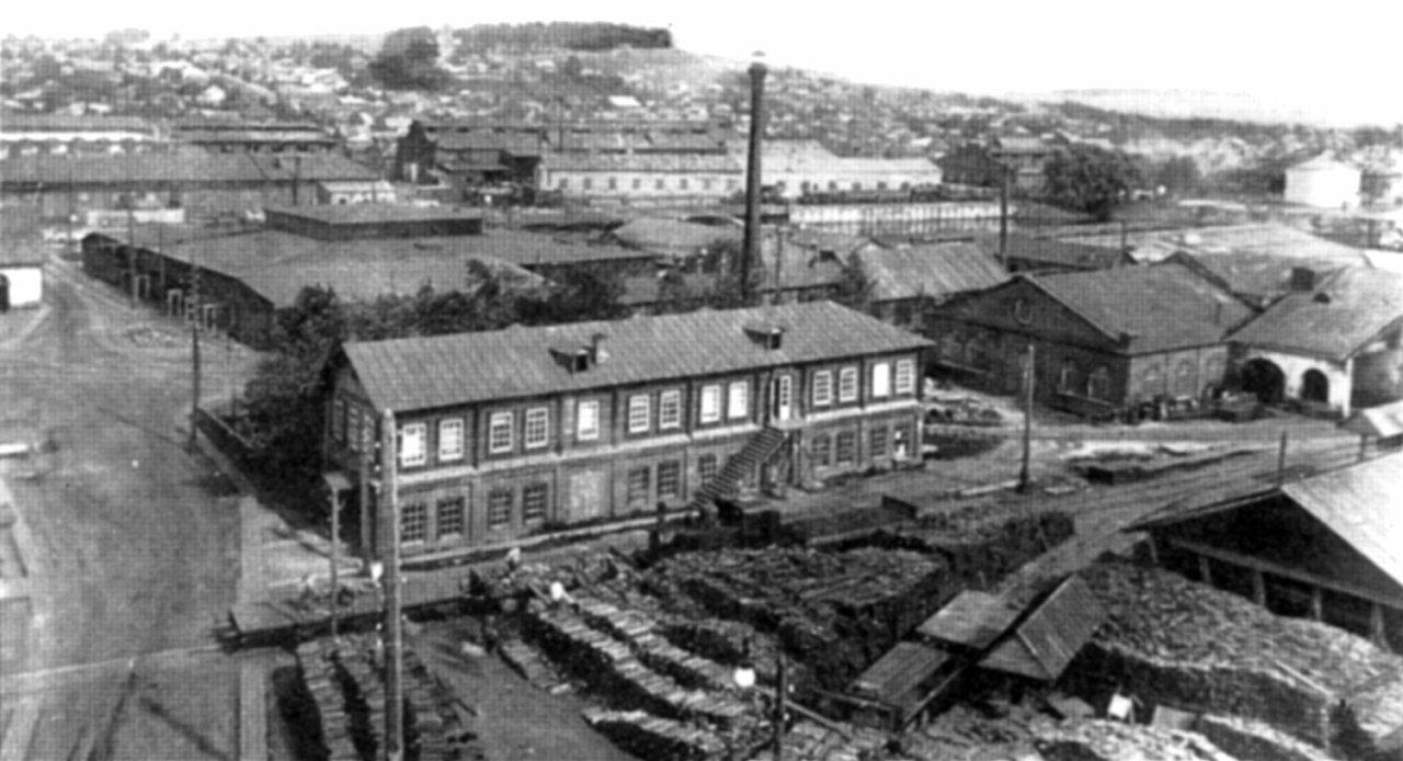 Воткинский завод. Вид на завод с колокольни Благовещенского собора.