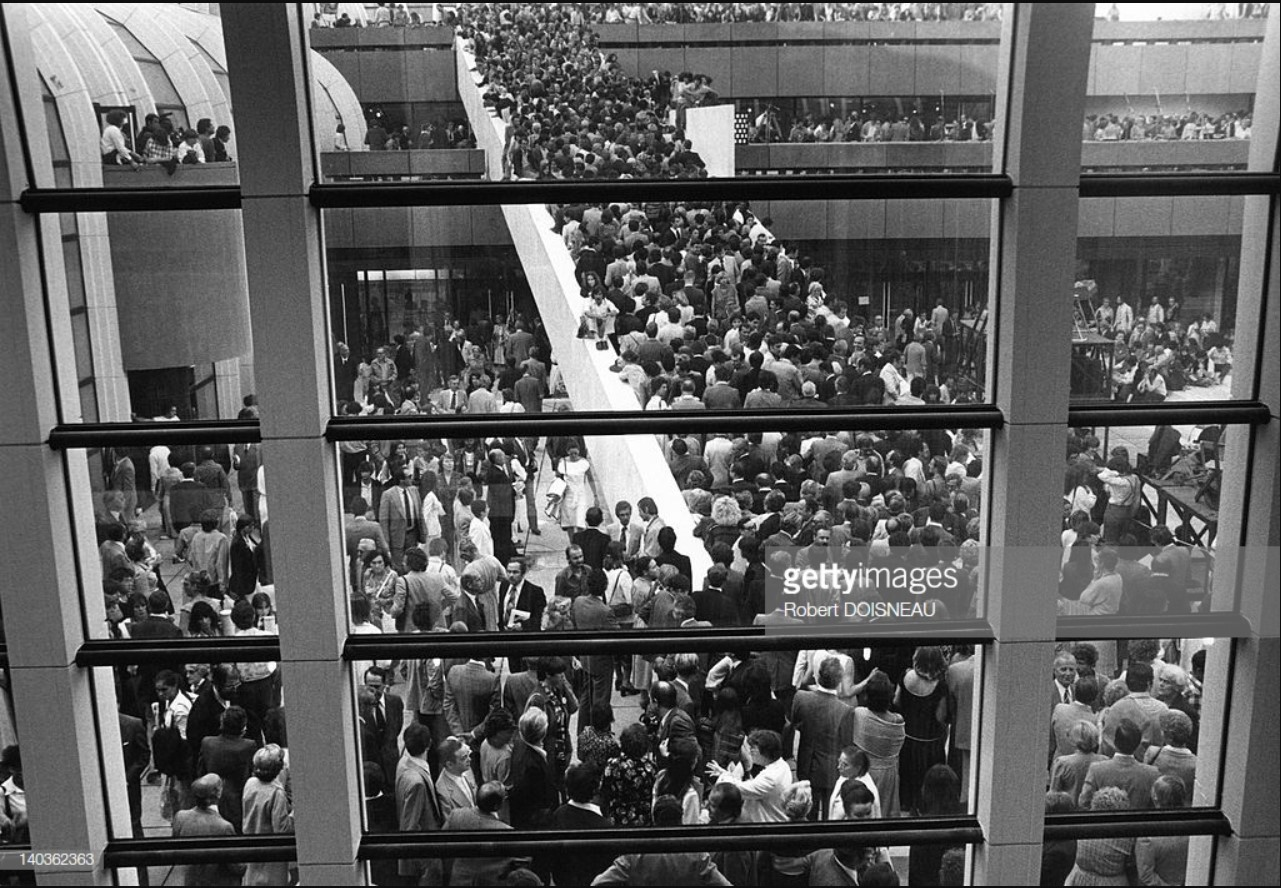 1979. Открытие Форума Ле-Аль, многоэтажного торгового центра, который заменил бывший центральный парижский рынок. 5 сентября.