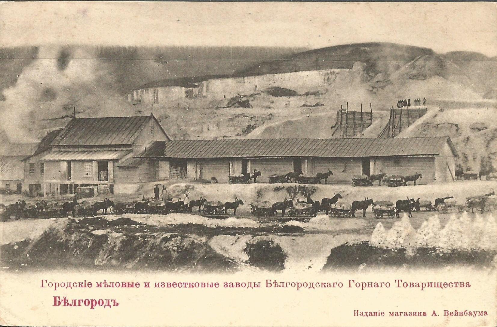 Городские и известковые меловые заводы Белгородского Горного Товарищества