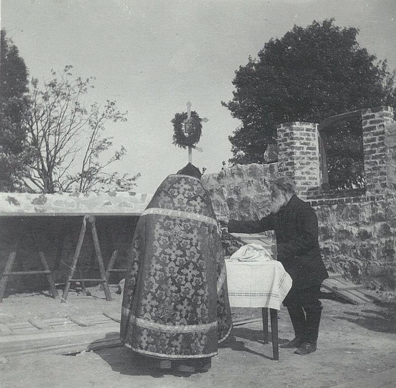 1899. Молебен при закладке церкви Спаса Нерукотворного в Рябово