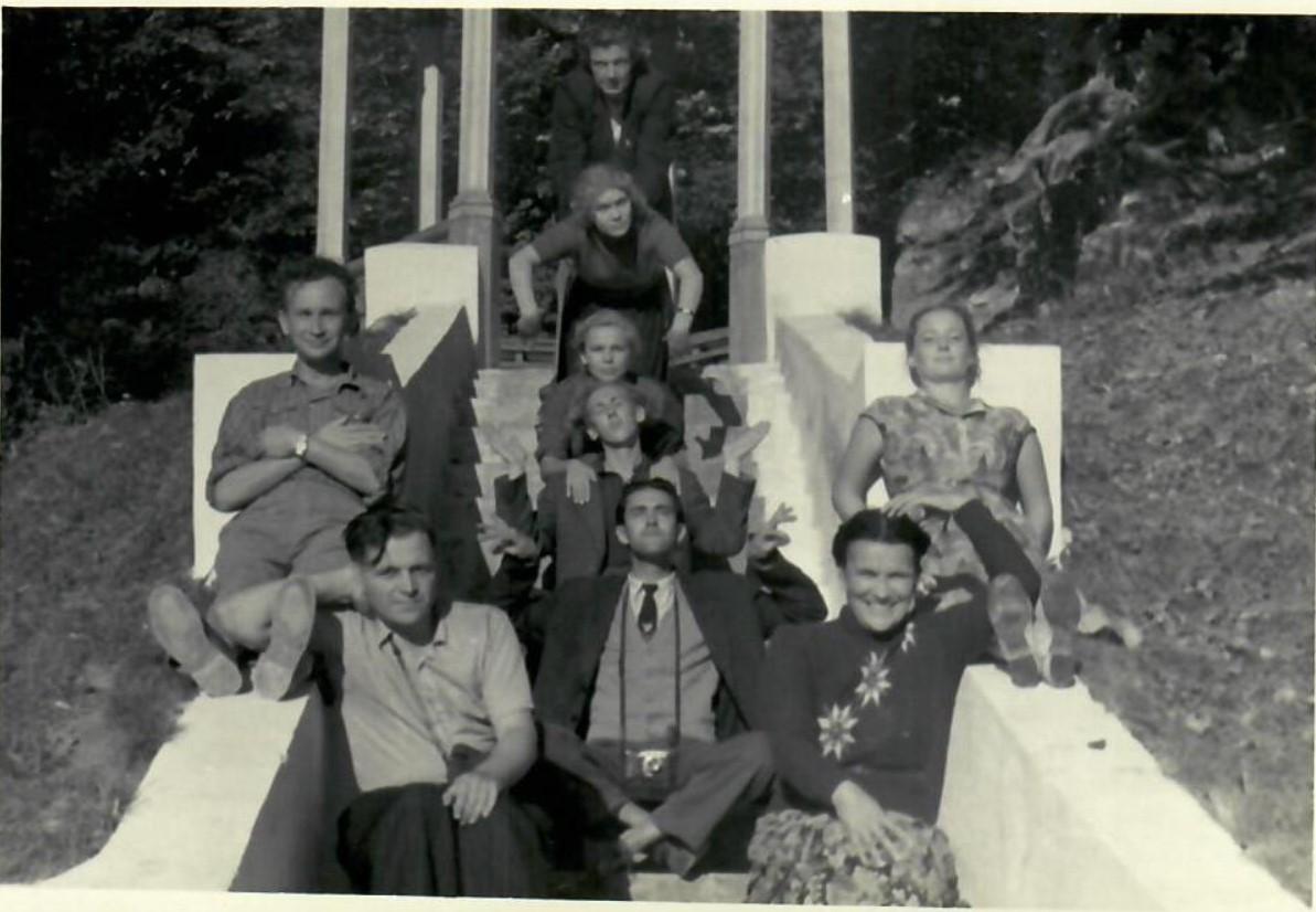 1955. Фотографии со съёмок художественного фильма «Вольница»