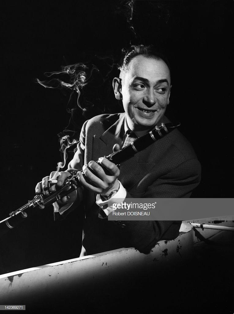 1950. Портрет джазового кларнетиста и тенор-саксофониста Хьюберта Ростена, известного по выступлениям в составе квинтета Джанго Рейнхардта, Париж