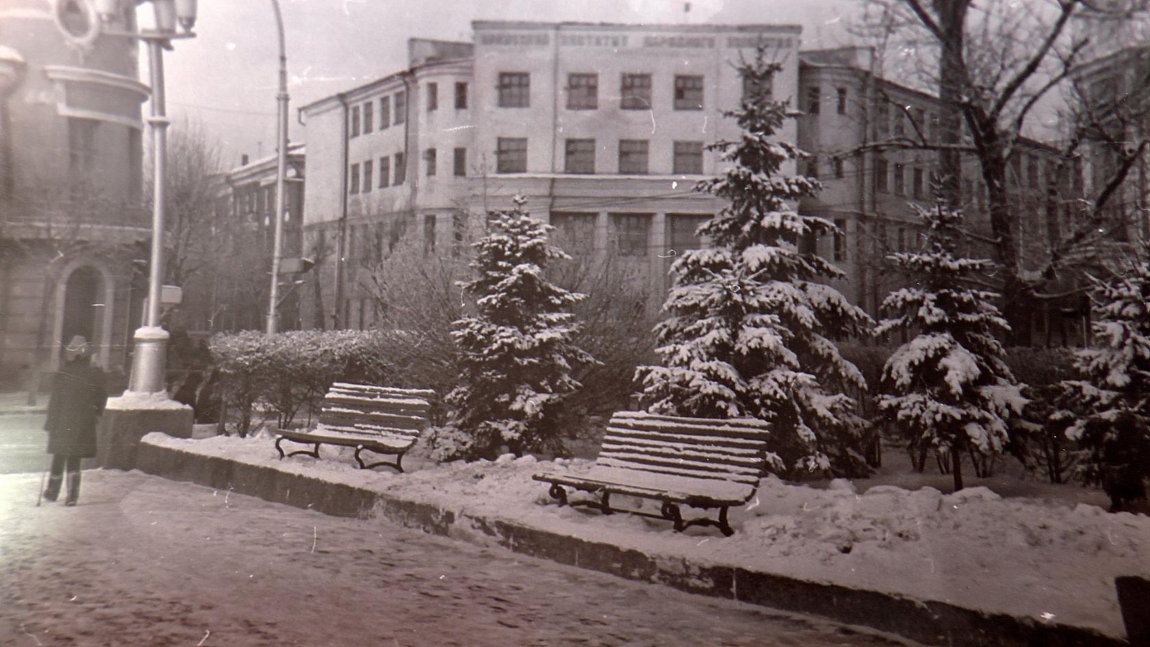 1966. Вид НАРХОЗа от памятника Ленина
